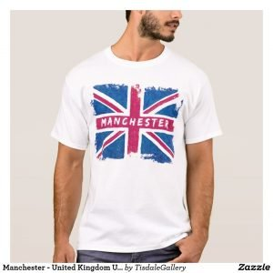 Manchester T-Shirt With Distressed Union Jack Design