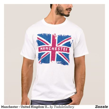 Manchester T-shirt With Union Jack Design