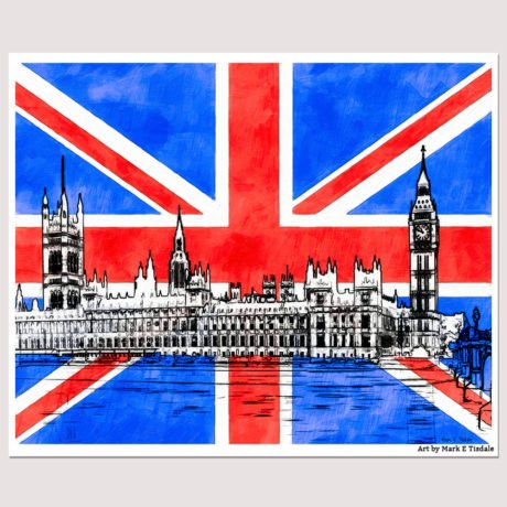 Union Jack Wall Art Featuring Parliament Design