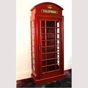 Red Telephone Booth Cabinet - For Your Home