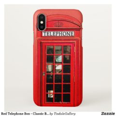 Red Telephone Box iPhone X Case - Classic British Design