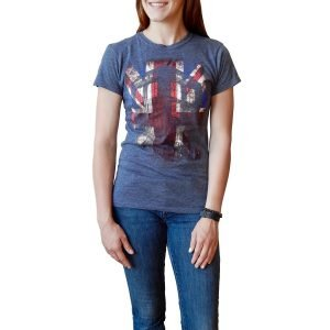 Women's Union Jack T-Shirt Featuring Doctor Who's Tardis