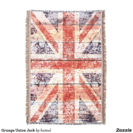 Vertical View Of Union Jack Blanket
