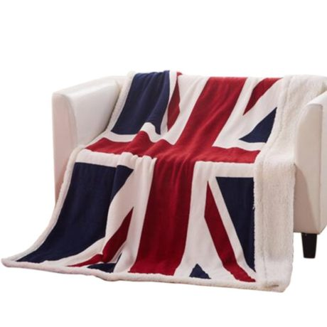 Soft Union Jack Fleece Throw Blanket