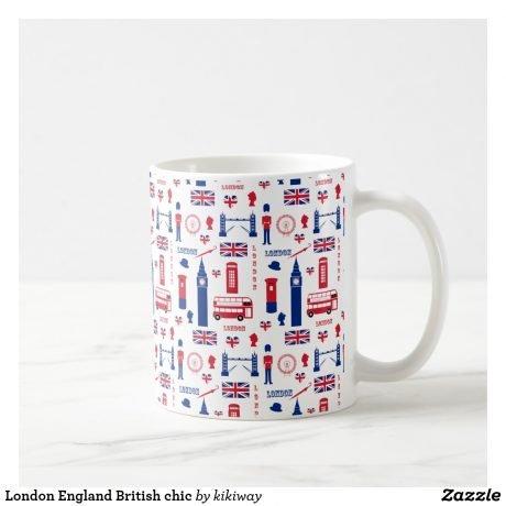 London Coffee Mug – Fun Pattern design