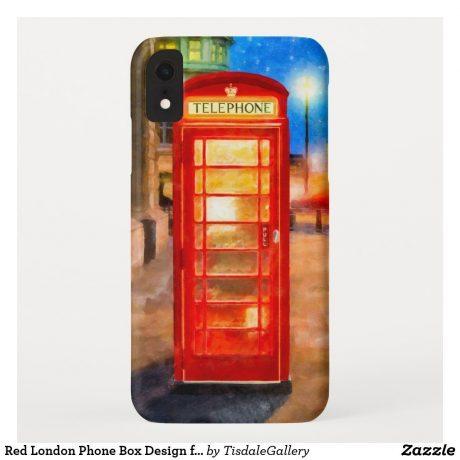 British phone booth iPhone Case