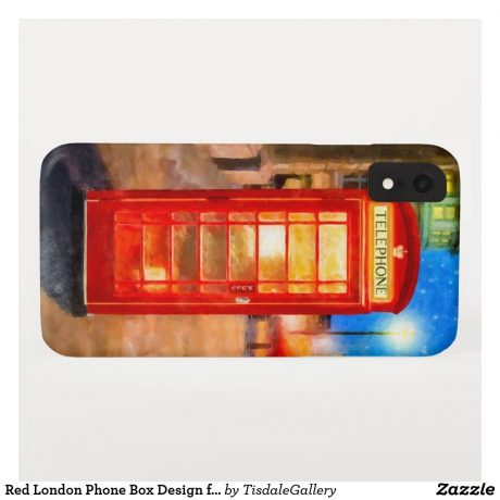Horizontal View of British Phone Booth iPhone Case - XR