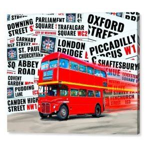 London Bus Canvas Print by Artist Mark Tisdale