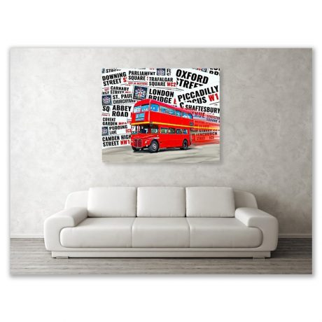 See this London Bus Canvas Print in a room